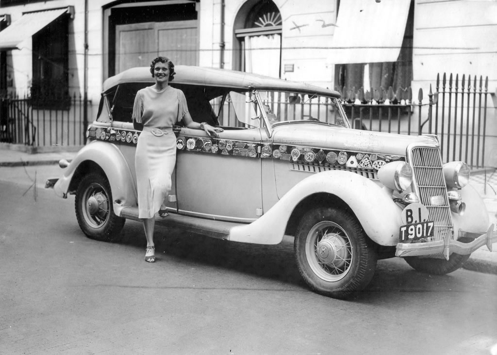 Ford Motor Car and Aloha Wanderwell