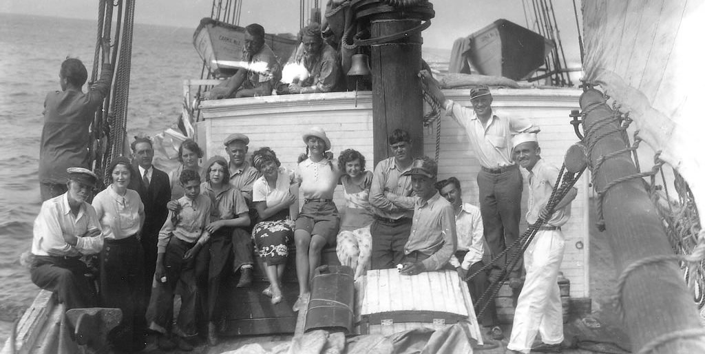 Crew of Wanderwell Yacht Carma