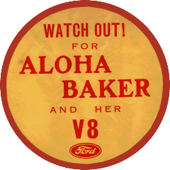 Aloha Ford V8 Sticker