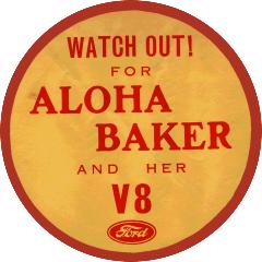 Aloha Ford V8 Sticker