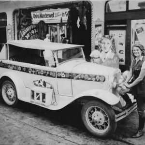Aloha at Movie Theater with 1930 Ford