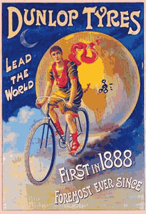 Dunlop First in 1888 Poster