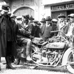 Wanderwell on Indian Motorcycle