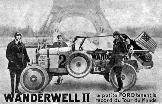 Wanderwell II France Postcard