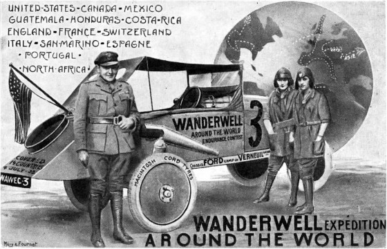 Wanderwell Around the World Postcard