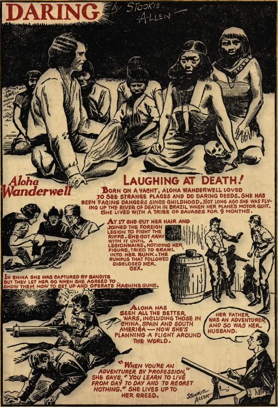 Wanderwell Newspaper Comic Strip Stookie Allen